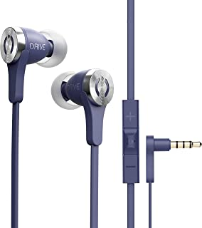 MuveAcoustics Drive Wired in-Ear Earbud Headphones - Noise Cancelling Premium Stereo Headphone Earbuds w/Mic, Ergonomic fi...