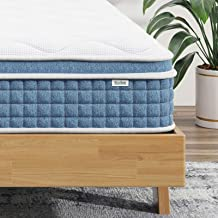 California King Mattress -14 Inch Hybrid Innerspring Mattress in a Box,Breathable Foam and Pocket Spring Mattress for Comf...