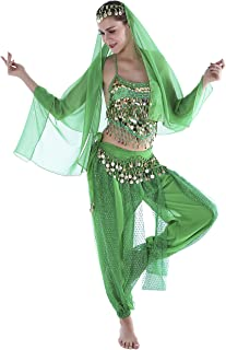 Seawhisper 12 Colors Belly Dance Costumes India Dance Outfit Halloween
