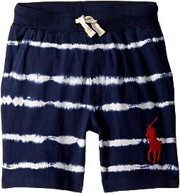 Tie-Dye Cotton Jersey Shorts (Little Kids)