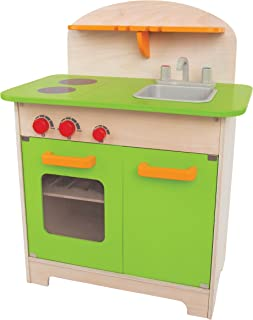 Hape (E3101) Gourmet Kitchen Kid's Wooden Play Kitchen in Green (Discontinued by Manufacturer)