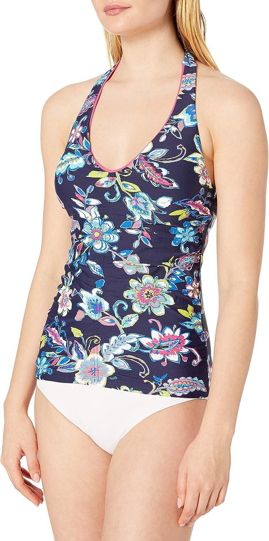 Anne Cole Women's Shirred Front Halter Tankini Swim Top