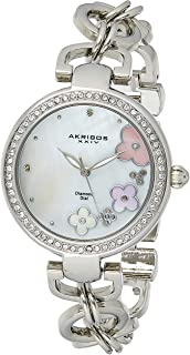 Akribos Xxiv Women's Silver Dial Alloy Band Watch - Ak874Ss, Silver Band, Analog Display