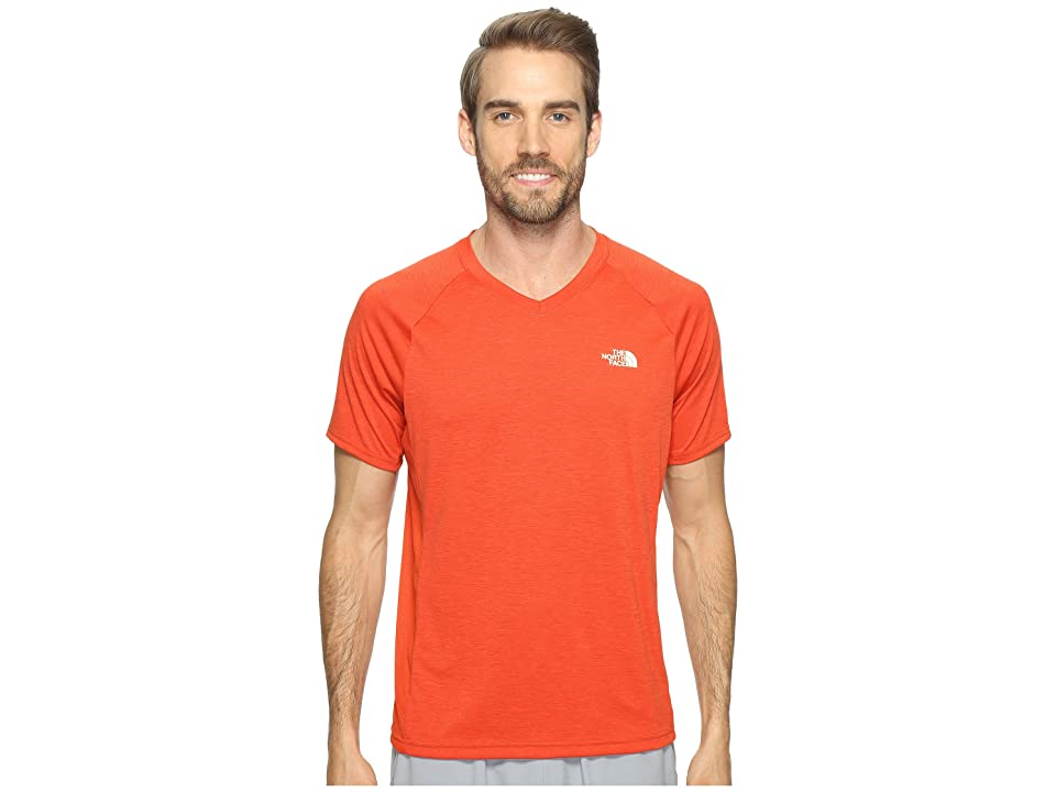 The North Face Ambition V-Neck (Tibetan Orange Heather/Tibetan Orange (Prior Season)) Men