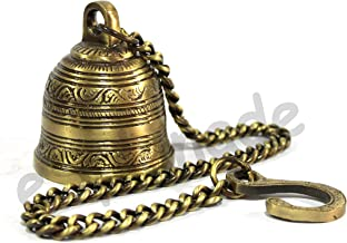 eSplanade - Ethnic Indian Handcrafted Brass Temple Bell with Chain | Brass Hanging Bell | Home Decor | Door Decor | Pooja ...