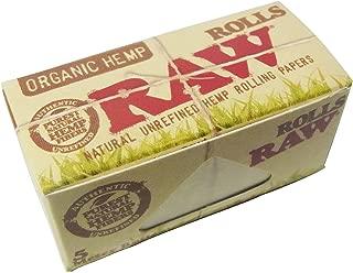 3個セット RAW natural unrefined hemp rolling papers ROLLS 5meter ロウ オーガニックヘンプペーパー タバコペーパー 巻紙 ロール 5m [並行輸入品]