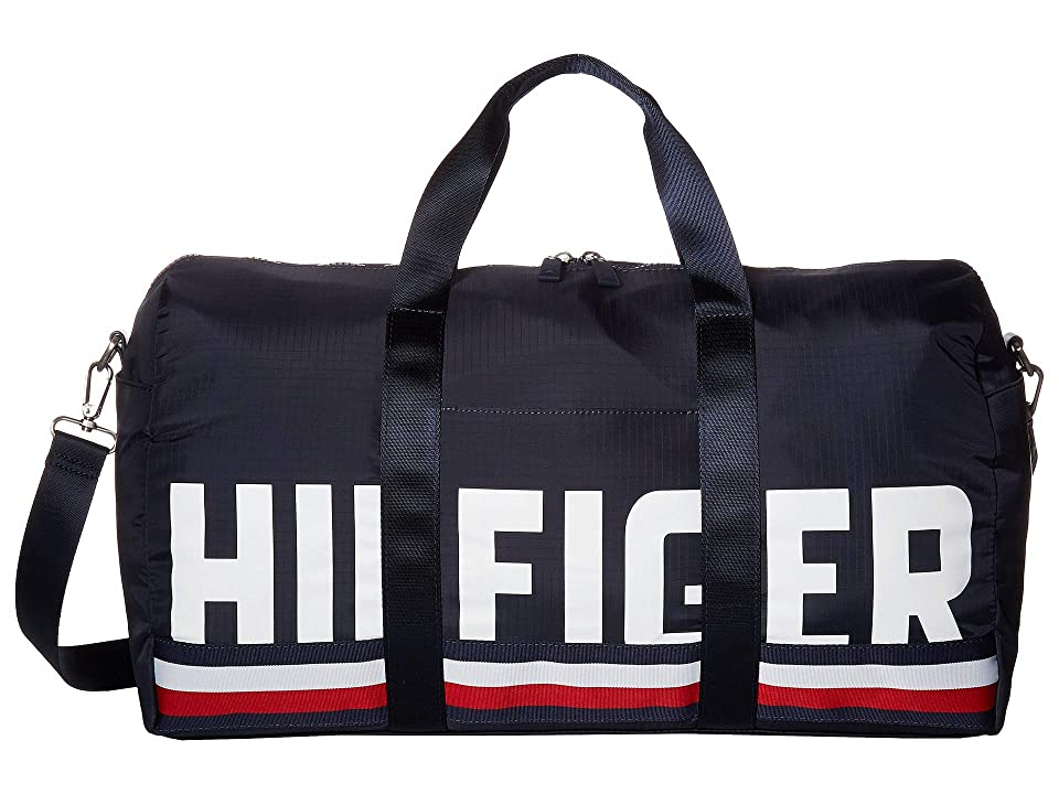 Tommy Hilfiger Knox Hilfiger Rip Stop Nylon Duffel (Tommy Navy) Duffel Bags