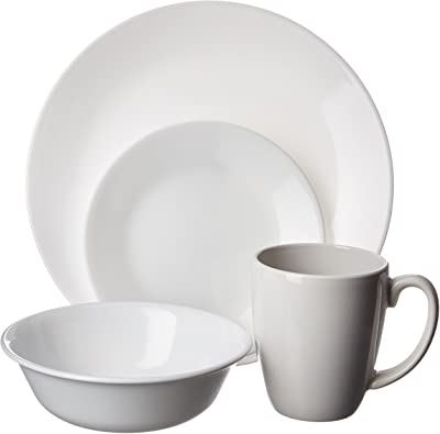 Corelle Livingware 16-Piece Dinnerware Set, Winter Frost White , Service for 4 [DISCONTINUED]