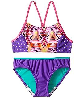 Diamond Geo Splice Two-Piece Swimsuit (Big Kids)