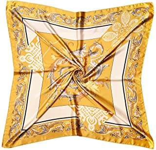 Lingso Silk Like Scarf,Head Scarves for Women,Stain Square Scarf for Hair Wrapping