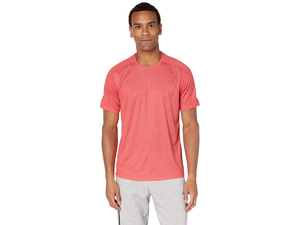 adidas Designed 2 Move Tee (Active Red Melange) Men's T Shirt