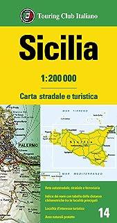 Cartina Mappa Sicilia.Amazon It Cartina Geografica Sicilia