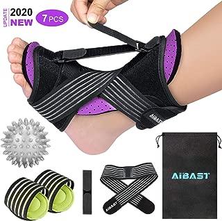 2020 New Upgraded Purple Night Splint for Plantar Fascitis,  AiBast Adjustable Ankle Brace Foot Drop Orthotic Brace for Plantar Fasciitis,  Arch Foot Pain,  Achilles Tendonitis Support for Women,  Men
