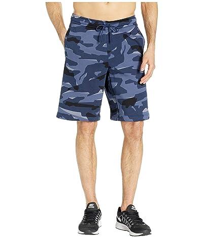 Nike NSW Club Camo BB Shorts (Midnight Navy/Midnight Navy/White) Men