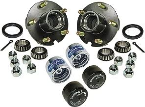 Rigid Hitch Trailer Hub Assembly (BT-150-22-A-BBC) - 1-1/16 inch I.D. Bearings - with Chrome Bearing Buddies & Bras