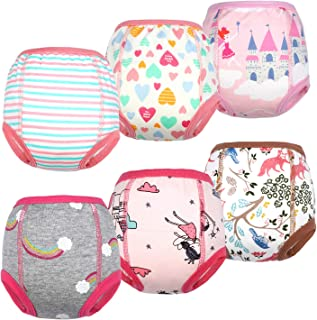 MooMoo Baby Cotton Training Pants Strong Absorbent Toddler Potty Training Underwear for Baby Girl and Boy 2T-6T