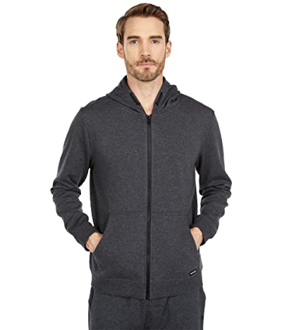 Hurley Therma Protect 2.0 Full Zip Hoodie (Black Heather/Iron Grey) Men