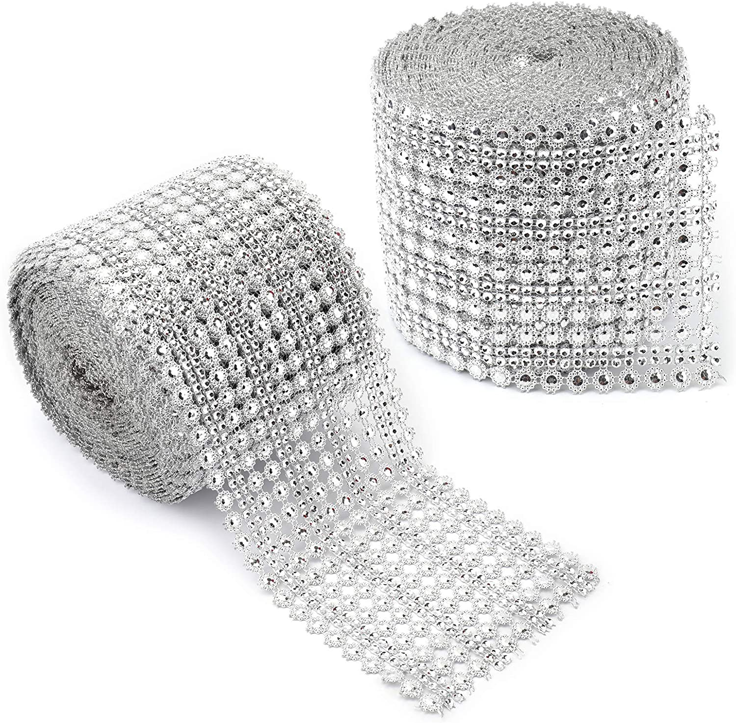Foraineam Opening large release sale 2 Rolls Crystal Diamond Industry No. 1 20 Rhineston Yards Faux Ribbon