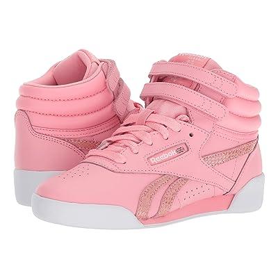 Reebok Kids F/S Hi Spring (Little Kid) (Pink/White) Girls Shoes