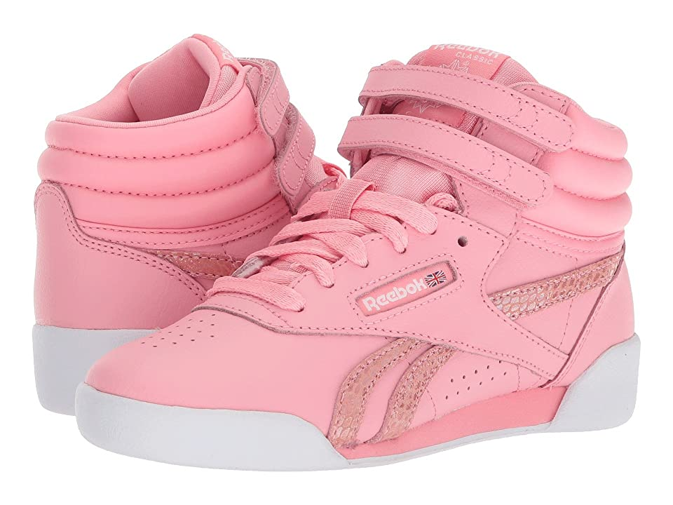 Reebok Kids F/S Hi Spring (Little Kid) (Pink/White) Girls Shoes