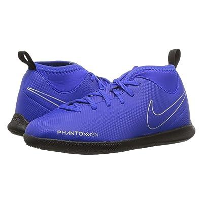 Nike Kids Jr. Phantom Vision Club DF IC Soccer (Toddler/Little Kid/Big Kid) (Racer Blue/Black/Metallic Silver/Volt) Kids Shoes