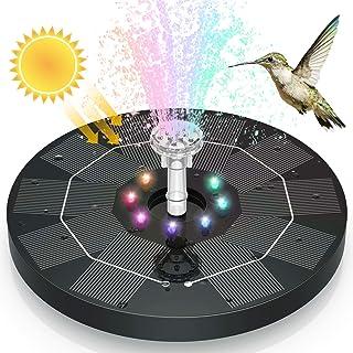 AISITIN 3.5W LED Solar Fountain for Birdbath, Solar Water Fountains with 3000mAh Battery 6 Nozzles, Solar Powered Fountain...