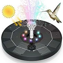 AISITIN 3.5W LED Solar Fountain for Birdbath, Solar Water Fountains with 3000mAh Battery..