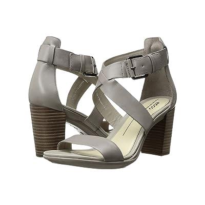 ECCO Shape 65 Block Sandal (Moon Rock Calf Leather) High Heels