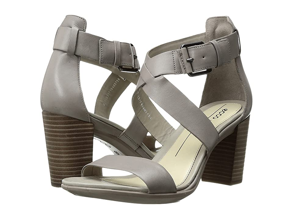 ECCO Shape 65 Block Sandal (Moon Rock Calf Leather) High Heels