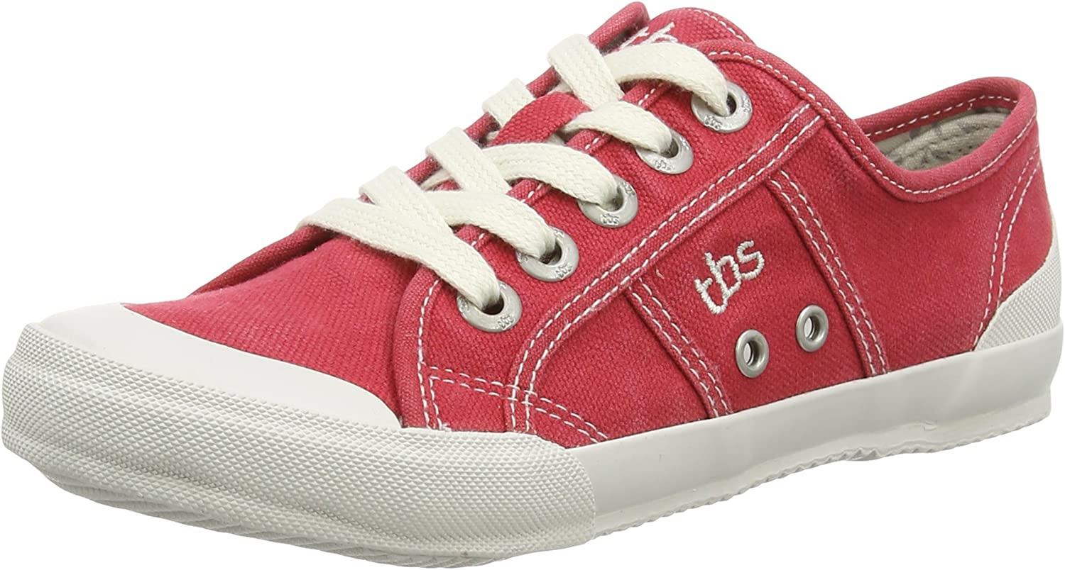 TBS Women's Opiace Lace up Sneaker Rubis Trainer shoes