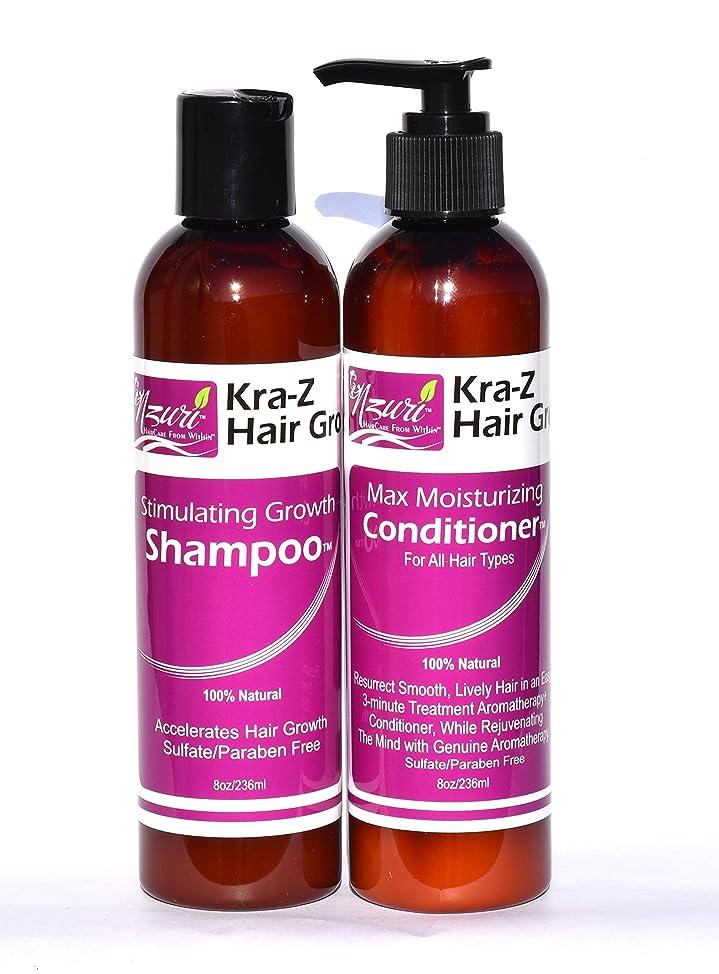 Nzuri Kra-Z Hair Gro Stimulating Growth Shampoo - 8oz & Conditioner - 8oz Combo Kit