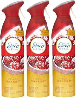 Febreze Air Effects Air Freshener Spray - Limited Edition Sugared Cranberry - Net Wt. 9.7 OZ (275 g) Each - Pack of 3