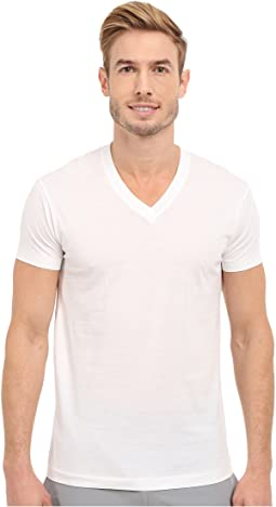 Pima Cotton Short Sleeve V-Neck