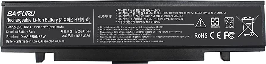 Baturu 6Cell AA-PB9MC6B AA-PB9NC6B AA-PB9NC6W AA-PB9NS6B Laptop Battery for Samsung R420 R430 R468 R470 R480 RV510 RV511 RC512 R519 R520 R530 R540 R580 R730 Q320 Q430 Np550P5c Np365e5c