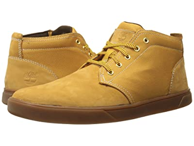 Timberland Groveton Leather and Fabric Chukka (Wheat Nubuck/Canvas 1) Men