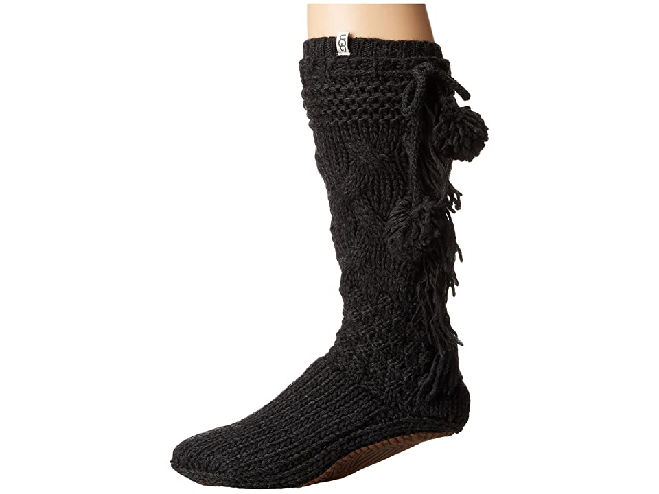 UGG Cozy Slipper Socks (Charcoal Heather) Women