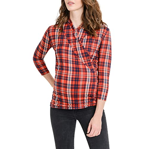 f3c8f734eda Women's 3/4 Sleeve Surplice Blouse Top - Cross Over, Nurisng, Maternity,