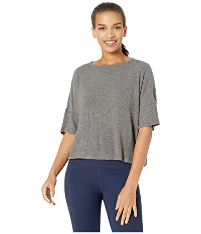 Beyond Yoga Brushed Back Hacci Tee (Mid Heather Gray) Women