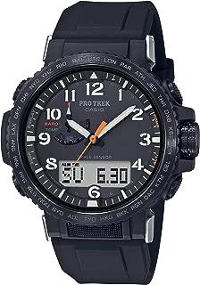 Casio Men's Pro Trek Stainless Steel Quartz Watch with Silicone Strap, Black, 22 (Model: PRW-50Y-1ACR)