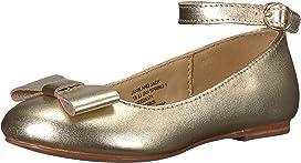 Metallic Ankle Strap Ballet Flat (Toddler/Little Kid/Big Kid)
