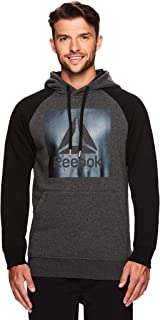 Reebok Men's Performance Pullover Hoodie - Graphic Hooded Activewear Sweatshirt