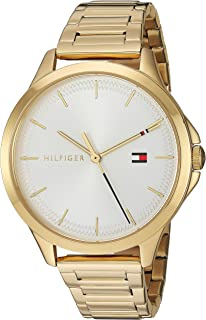 Tommy Hilfiger Women's Quartz Watch with Stainless Steel Strap, Gold Plated, 15.4 (Model: 1782086)