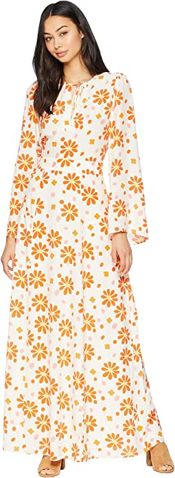 Dotted Daisy Maxi Dress