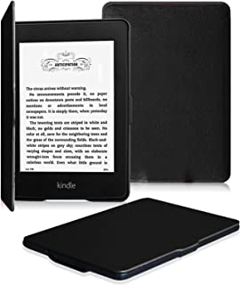 Fintie Kindle Paperwhite ケース 超薄 軽量 保護カバー オートスリープ機能付き (2016 NEW-Kindle Paperwhiteマンガモデル と 2012, 2013, 2015バージョン適応)(ブラック)