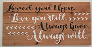 Loved You Then Love You Still Always Have Always Will Wood Pallet Sign Wall Decor Anniversary Wedding Gift