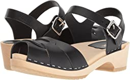 52f1c0f7f Swedish Hasbeens. Peep Toe Low.  169.00. 4Rated 4 stars. Black