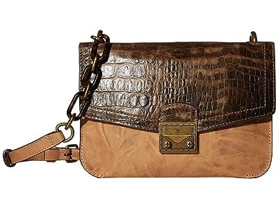 Frye Ella Crossbody (Beige Multi) Cross Body Handbags