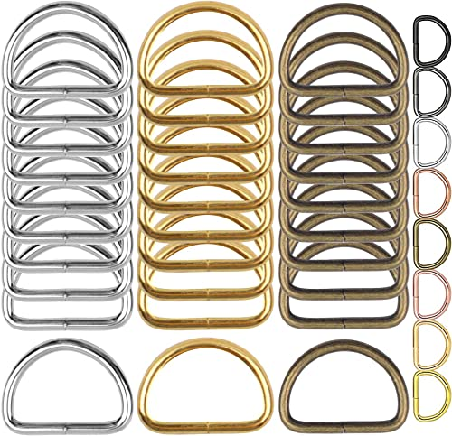 DIY Crafts Metal D Rings Heavy Duty D Ring for Sewing Keychains Belts and Dog Leash Accessories Jewellry Bags Wallets and Luggage Making Multi Use 10 Pcs Gold