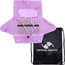 addi Knitting Needles Click Standard Rocket (Long) Lace Tip Interchangeable Circular System White-Bronze Finish Skacel Exclusive Blue Cords Bundle with 1 Artsiga Crafts Project Bag