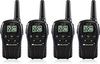 4-Pack Midland LXT500VP3 Two Way Radio, Rechargeable Batteries and Chargers